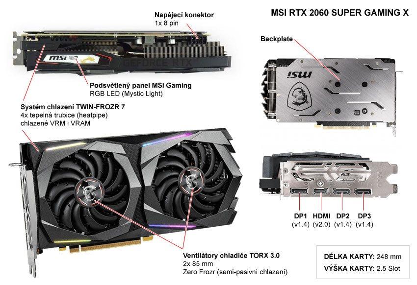 MSI RTX 2060 SUPER Gaming X; popis