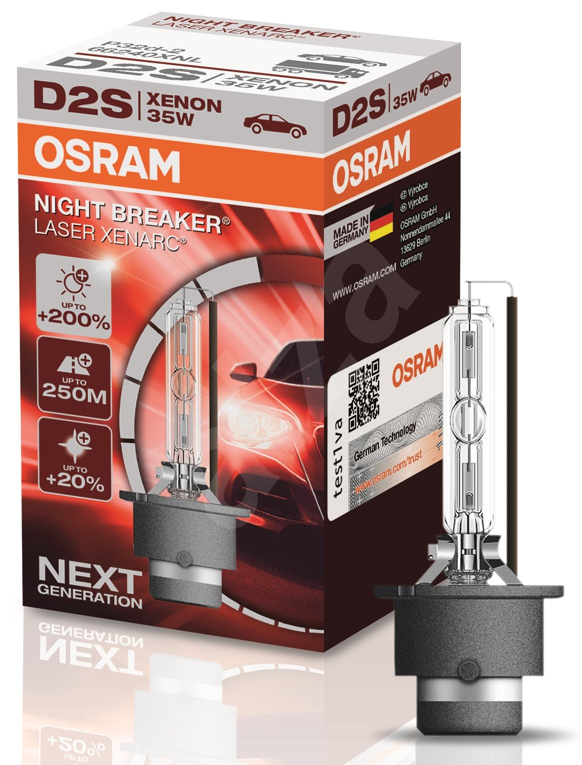 osram xenarc d2s night breaker laser 200 xenonov. Black Bedroom Furniture Sets. Home Design Ideas