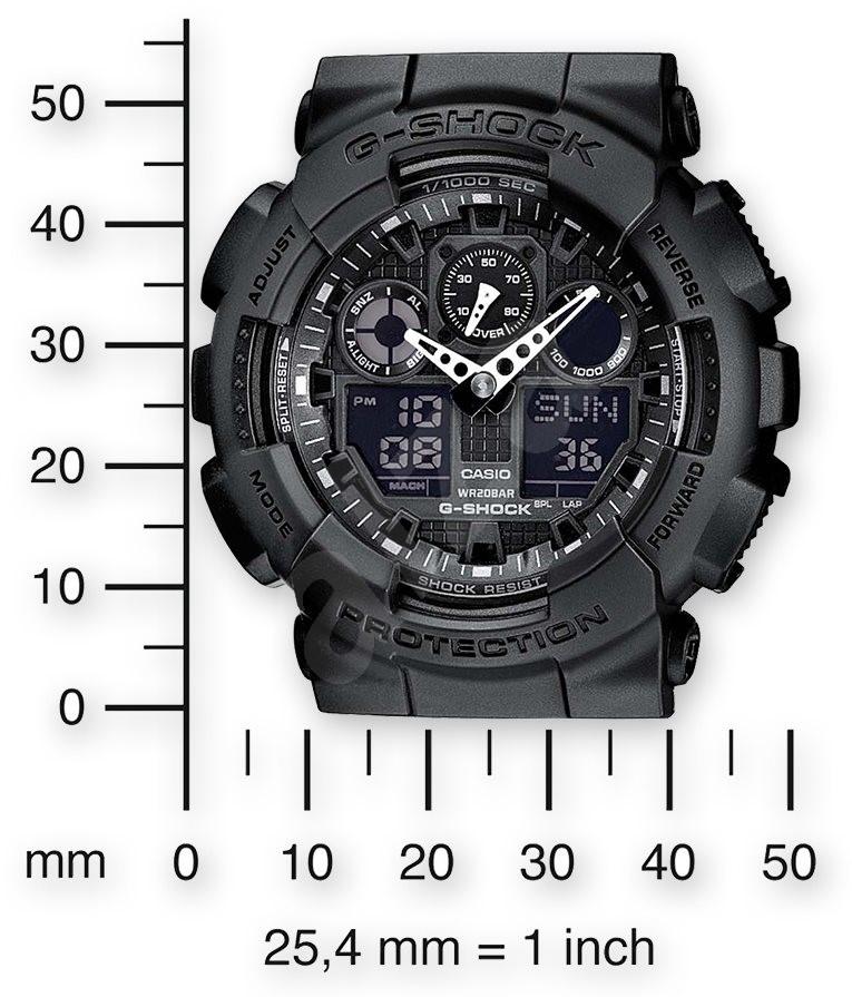 ... CASIO G-SHOCK GA 100-1A1 - Pánské hodinky ... e27f698979