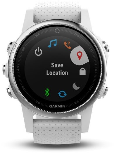 ... Garmin Fenix 5S Silver Optic White band - Chytré hodinky ... c0255c4d10