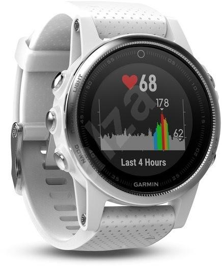 ... Garmin Fenix 5S Silver Optic White band - Chytré hodinky 69d8582491