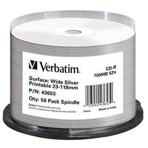 VERBATIM CD-R DataLifePlus 700MB, 52x, white printable, spindle 50 ks