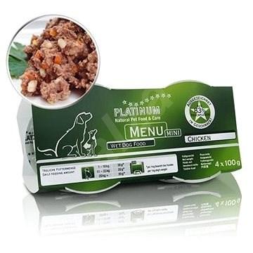 Platinum natural menu mini chicken kuře 4 x 100  g - Paštika pro psy