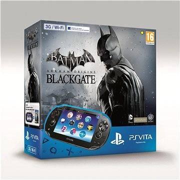 Playstation Vita Wi-fi/3G Black + 4GB paměťová karta + Batman: Arkham Origins Blackgate (Redeem Code