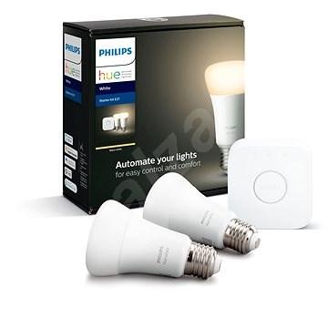 Philips Hue White 9W E27 malý starter kit  - LED žárovka