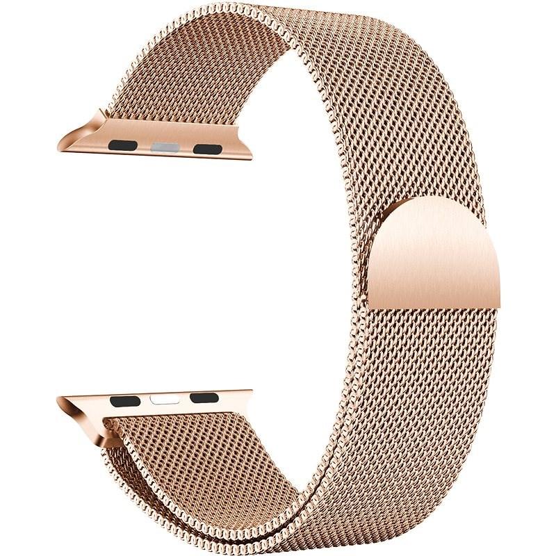 Eternico 38mm / 40mm Milanese růžovo zlatý pro Apple Watch - Řemínek