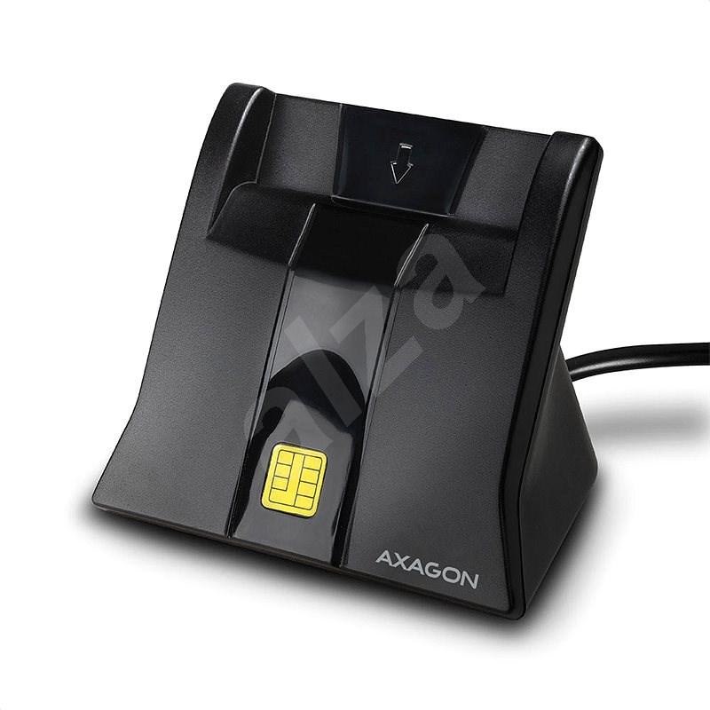 AXAGON CRE-SM4 USB Smart card StandReader - Čtečka eObčanek
