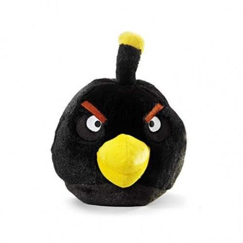 Rovio Angry Birds se zvukem 40cm Black - Plyšová hračka