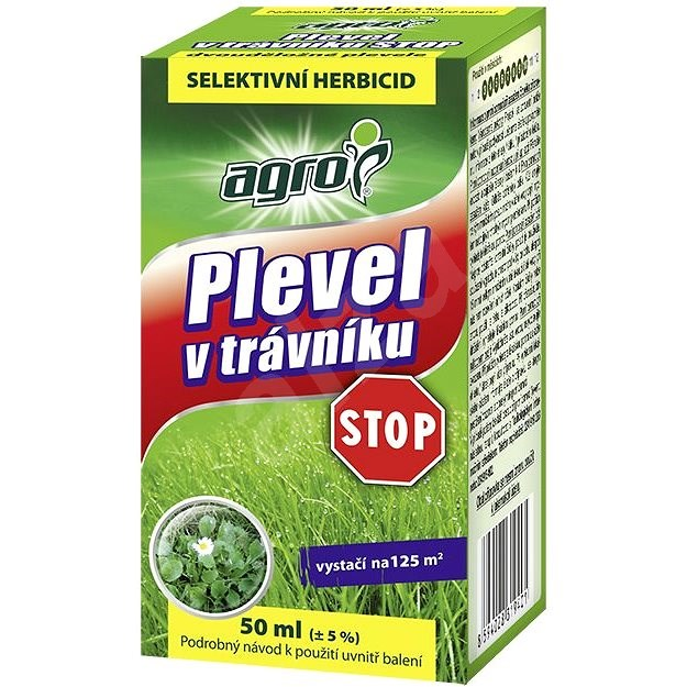 AGRO Plevel v trávníku STOP 50 ml - Herbicid