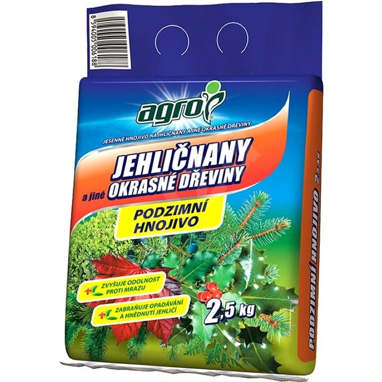 AGRO Podzimní hnojivo pro jehličnany a jiné okrasné dřeviny 2,5 kg - hnojivo
