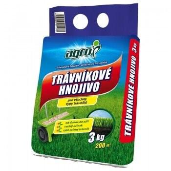 AGRO Trávníkové hnojivo 3 kg CZ/SK - Trávníkové hnojivo