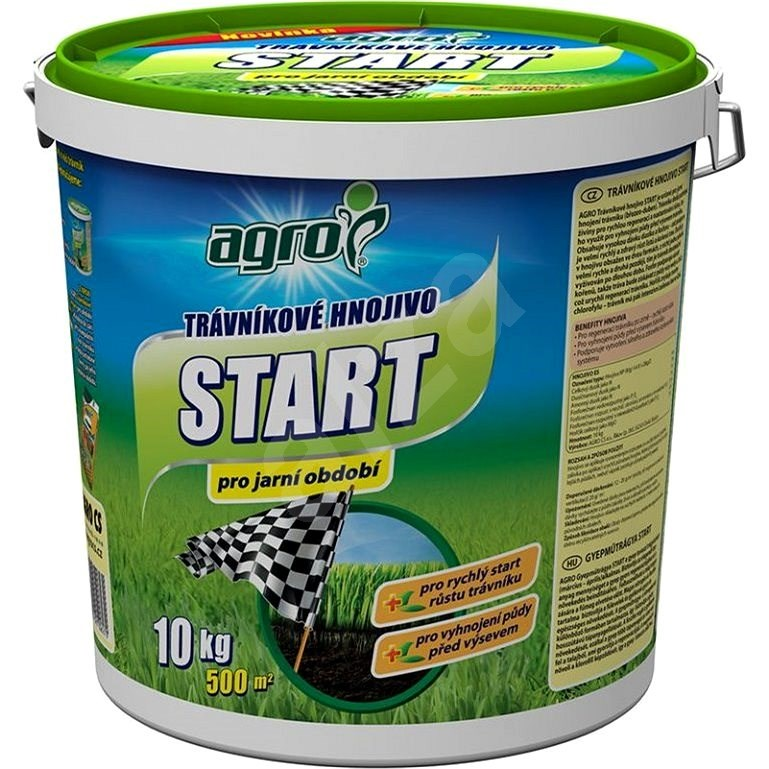 AGRO Trávníkové hn.plast.kb. START 10 kg - Trávníkové hnojivo