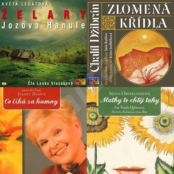 Balíček audioknih pro ženy za výhodnou cenu - Irena Obermannová  Chalíl Džibrán  Ivanka Devátá  Květa Legátová