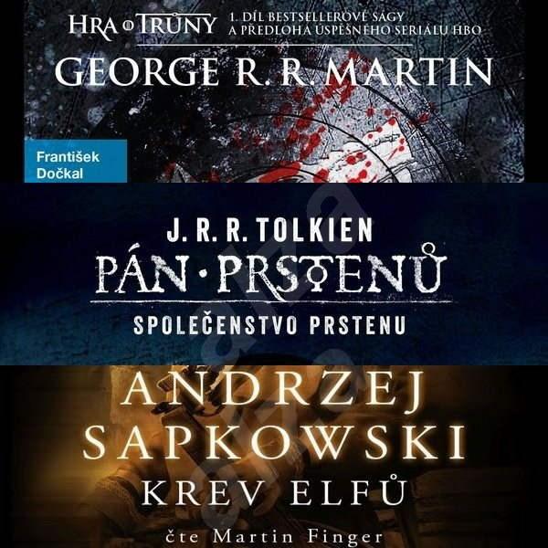 Balíček fantasy audioknih za výhodnou cenu - J. R. R. Tolkien  George R. R. Martin  Andrzej Sapkowski