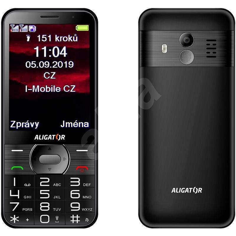 ALIGATOR A900 GPS Senior černý - Mobilní telefon