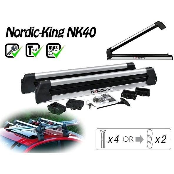 Nordrive Nordic King Evo nosič 4 páry lyží / 2 snowboardy - Nosič lyží