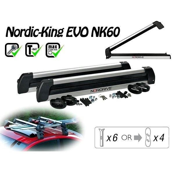 Nordrive Nordic King Evo nosič 6 páry lyží / 4 snowboardy - Nosič lyží