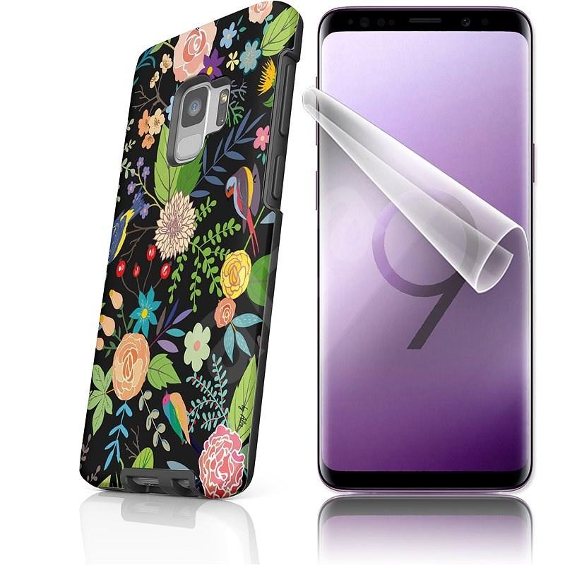 """Moje pouzdro """"Noční zahrada"""" + ochranná fólie pro Samsung Galaxy S9  - Ochranný kryt by Alza"""