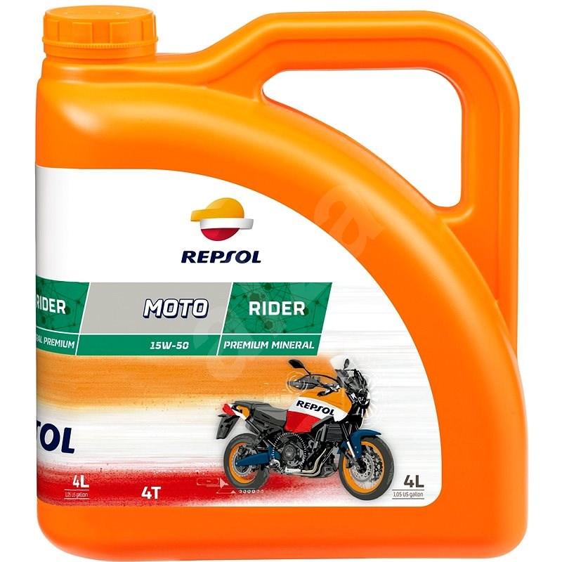 REPSOL MOTO RIDER 4T 15W-50 4l - Motorový olej