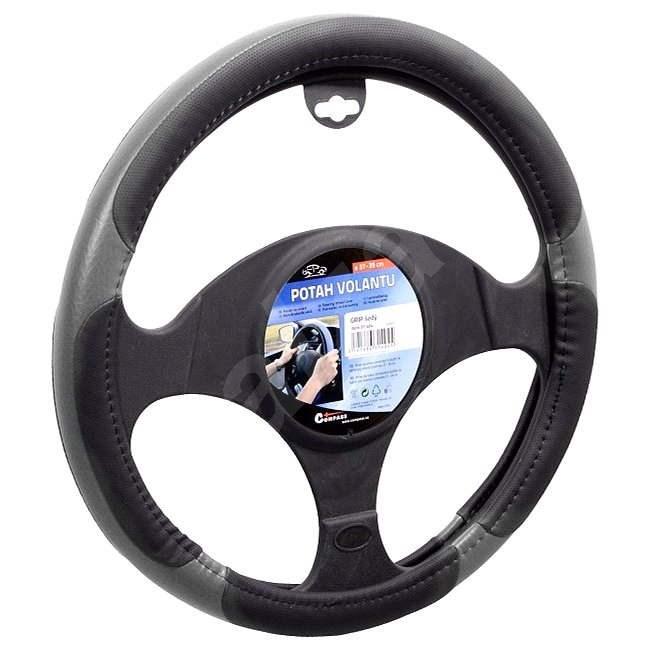 COMPASS Potah volantu GRIP šedý - Potah na volant