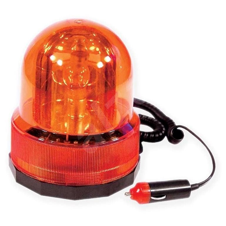 Maják oranžový 12V, magnetický      - Maják