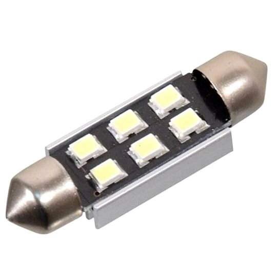 COMPASS SMD LED 12V suf. SV8.5 38mm bílá - LED autožárovka