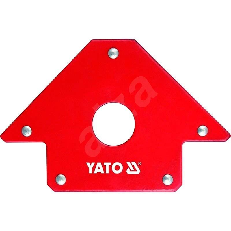 YATO Úhelník magnetický ke svařování 22,5 kg s otvorem - Úhelník