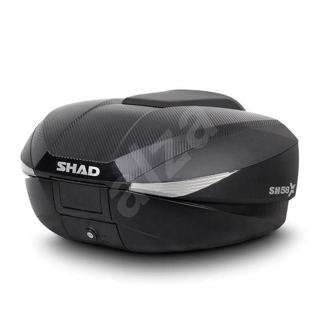 Vrchní kufr na motorku SH58X karbon (rozšiřitelný koncept) s PRÉMIOVÝM zámkem - Kufr na motorku