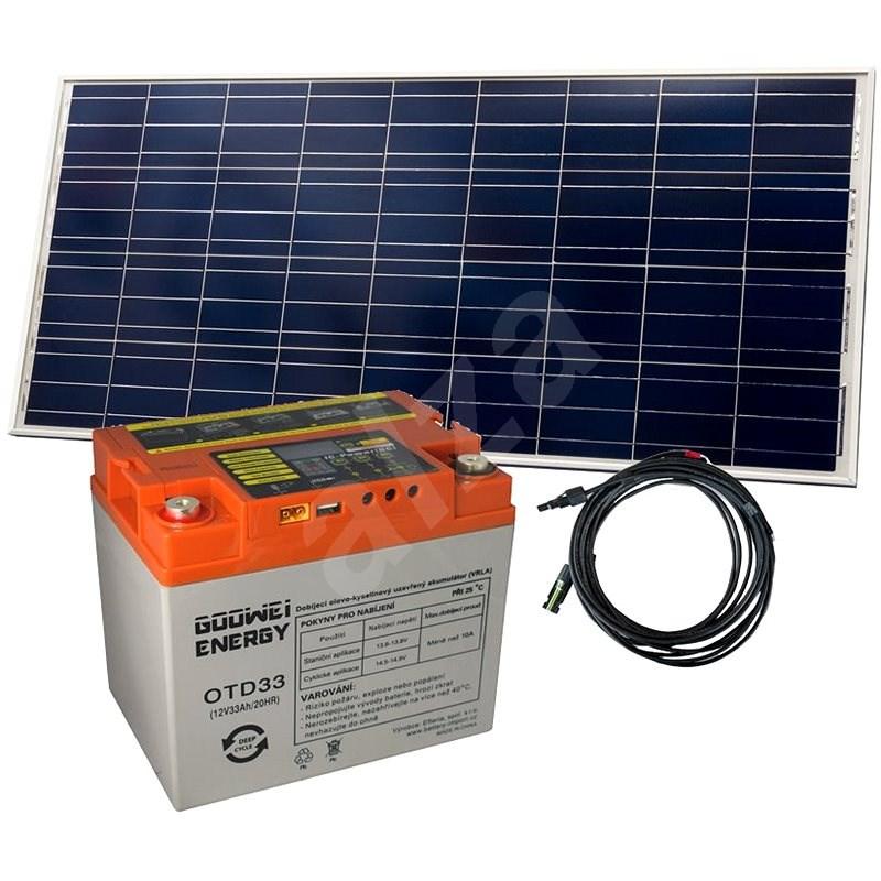Set baterie GOOWEI ENERGY OTD33 (33Ah, 12V) a solární panel Victron Energy 115Wp/12V - Trakční baterie