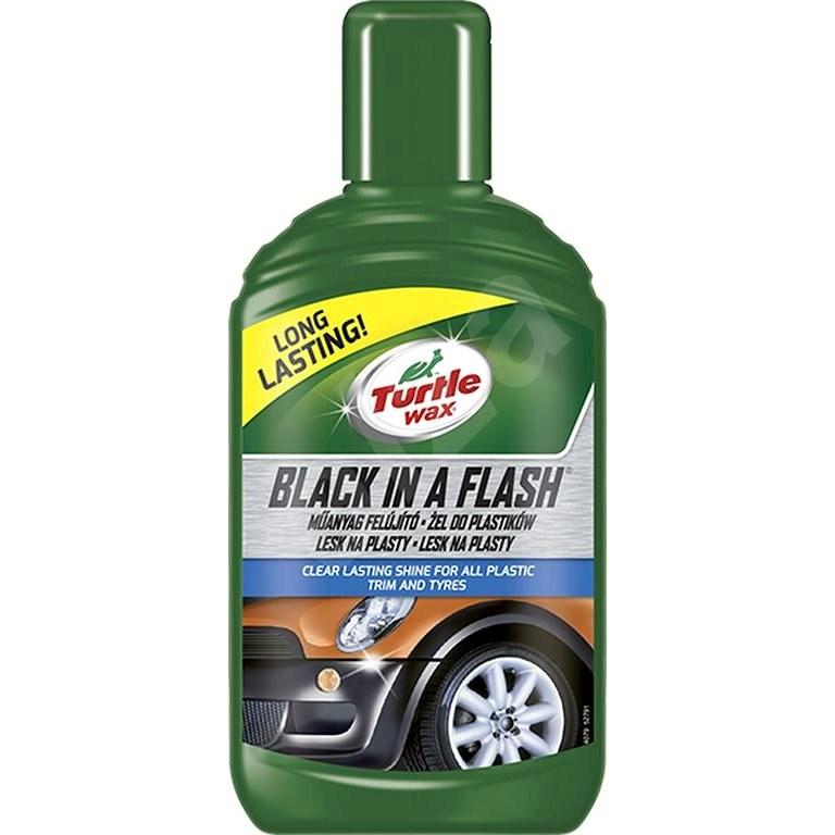 Turtle Wax GL Black in a Flash - lesk pro exter. plasty 300ml - Leštěnka na auto