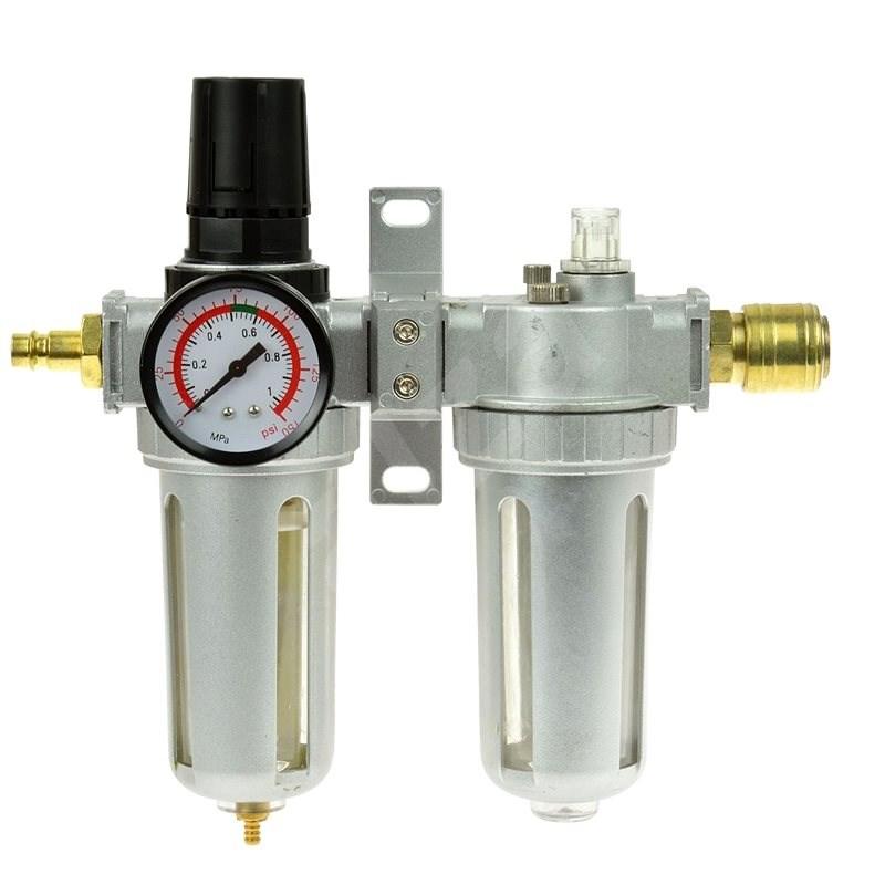 GEKO Regulátor tlaku s filtrem a manometrem a přim. oleje, max. prac. tlak 1,0MPa - Měřič tlaku