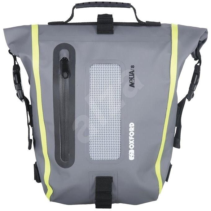OXFORD Brašna na sedlo spolujezdce Aqua T8 Tail bag (černá/šedá/žlutá fluo, objem 8 l) - Batoh na motorku