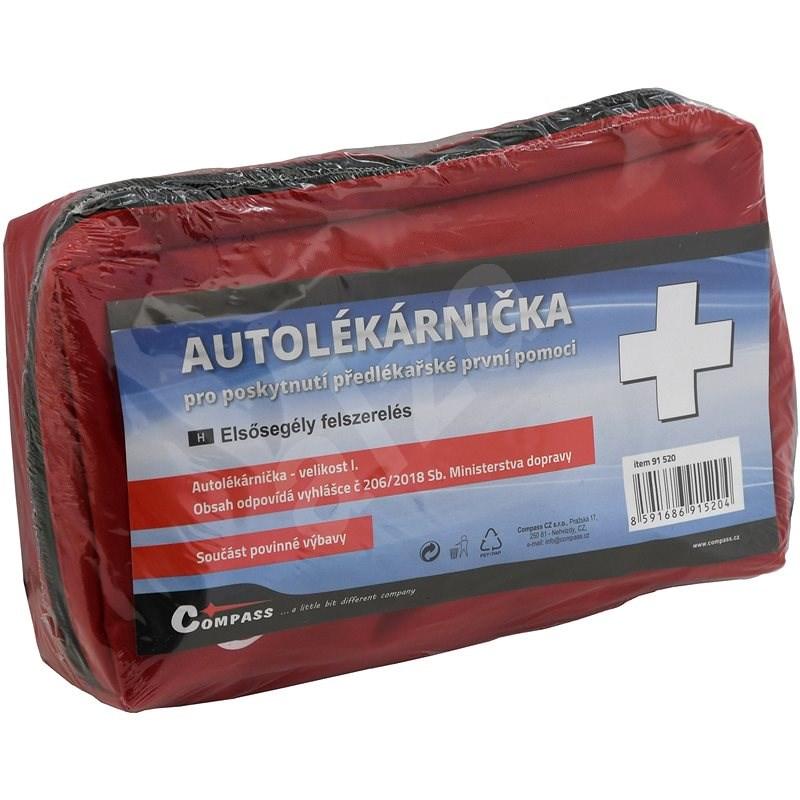 COMPASS Lékárnička I. textilní brašna - 216/2010 sb. MD (expirace 4 roky) - Autolékárnička