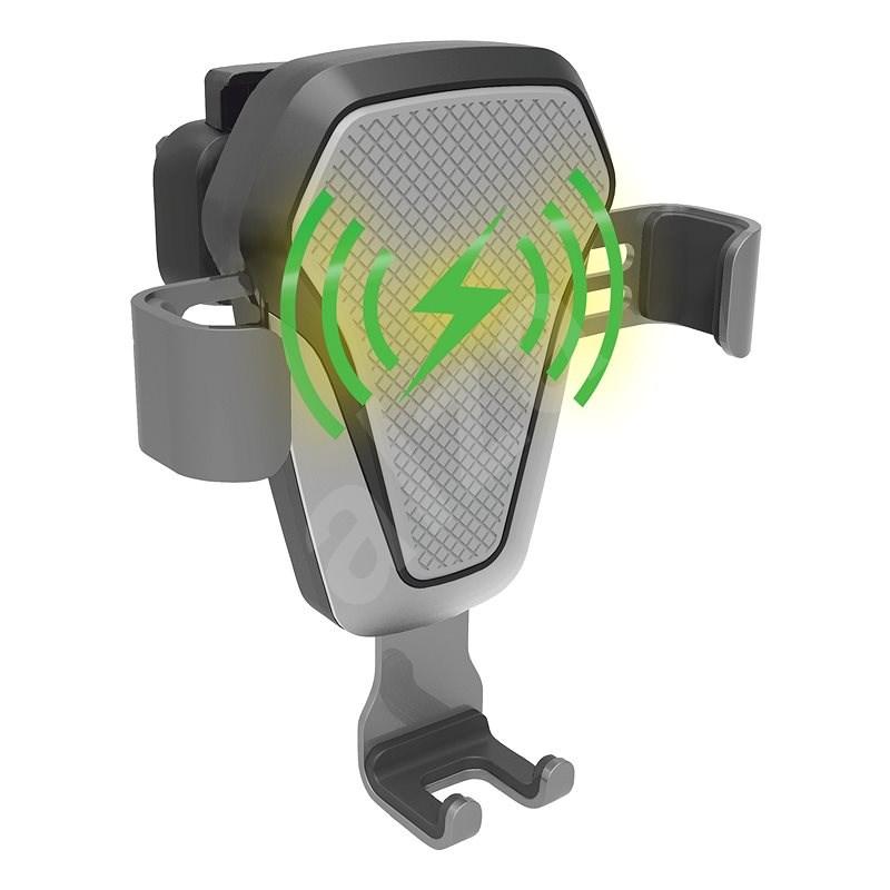 COMPASS LUKE-V bezdrátové nabíjení 10W dark grey - Držák na mobilní telefon
