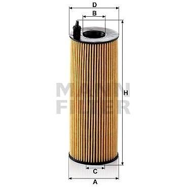 MANN-FILTER HU721/5x pro vozy ALPINA, BMW - Olejový filtr