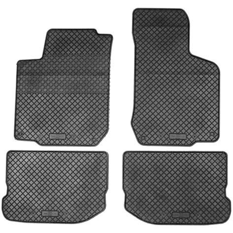 RIGUM ŠKODA OCTAVIA 97-01 gumové koberečky černé DESIGN (sada 4ks) - Autokoberce