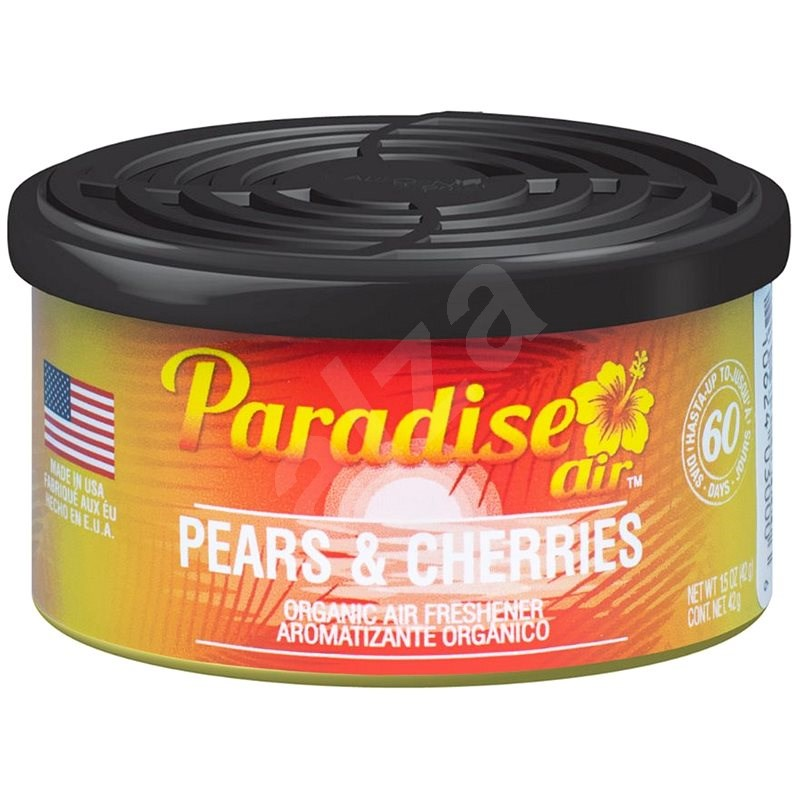 Paradise Air Organic Air Freshener, vůně Pears & Cherries - Vůně do auta