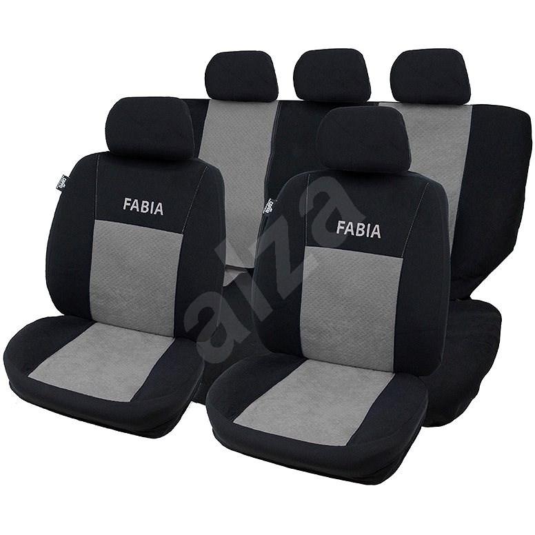 CAPPA Autopotahy FABIA černá/šedá - Autopotahy
