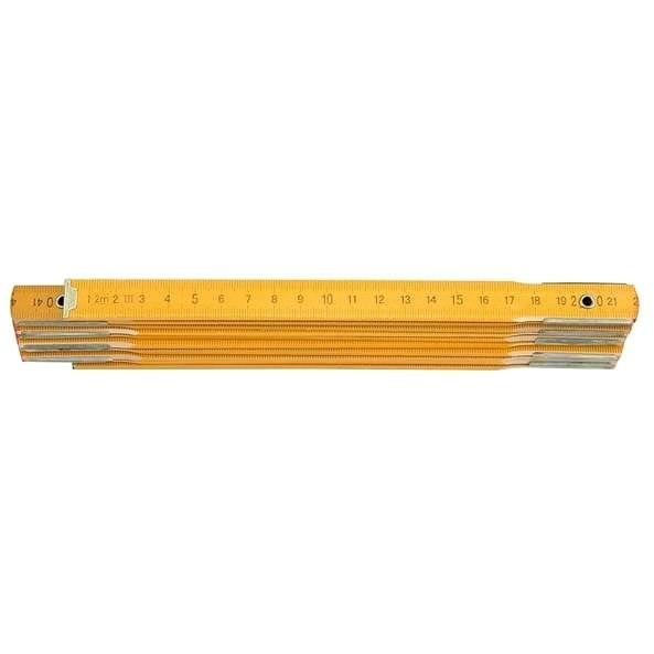 Vorel Metr skládací 2 m dřevěný žlutý - Metr