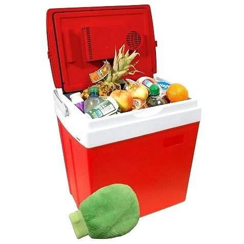 COMPASS Chladící box RED displej s teplotou - Autochladnička