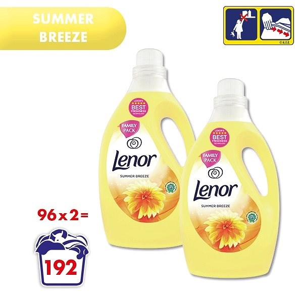 LENOR Summer Breeze 2× 2,905 l (192 praní) - Aviváž