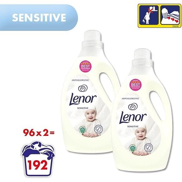 LENOR Sensitive 2× 2,905 l (192 praní) - Aviváž