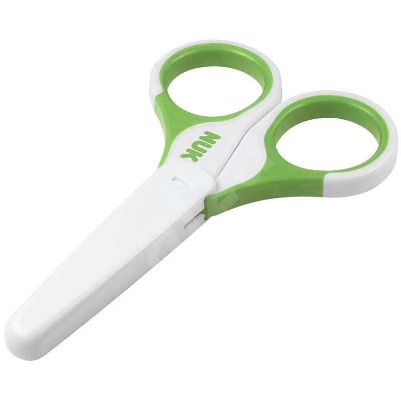 NUK Dětské zdravotní nůžky - zelené - Dětské nůžky na nehty