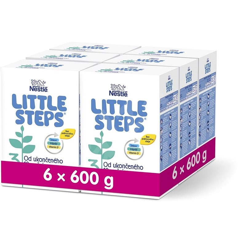 LITTLE STEPS 3 pokračovací (batolecí) mléko 12m+ 6× 600 g - Kojenecké mléko
