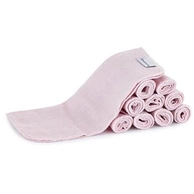 BAMBOOLIK Látkový ubrousek z biobavlny sada 10 ks - růžová - Látkové pleny