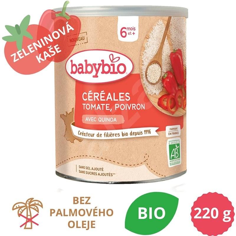 BABYBIO Zeleninová nemléčná BIO kaše s quinou, rajčaty a paprikou 220 g - Nemléčná kaše