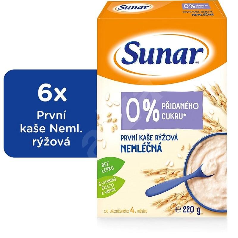 Sunar První kaše rýžová 6× 220 g - Nemléčná kaše