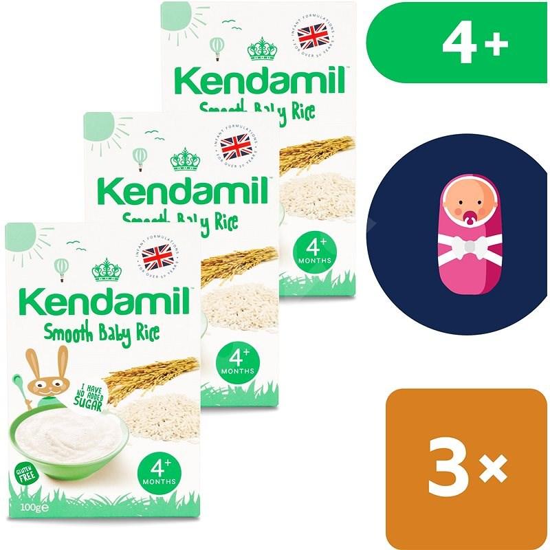 Kendamil Jemná dětská rýžová kaše 3× 100 g - Mléčná kaše