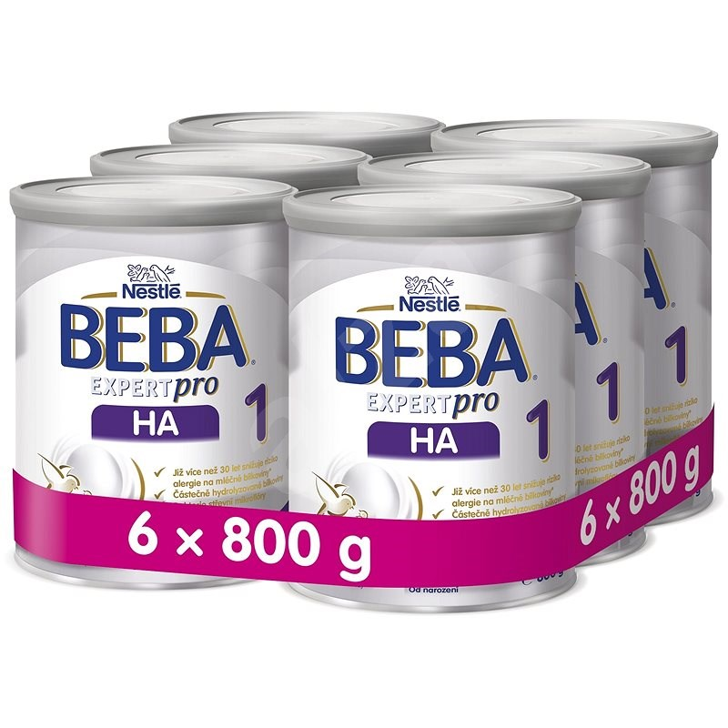 BEBA EXPERTpro HA 1 (6× 800 g) - Kojenecké mléko