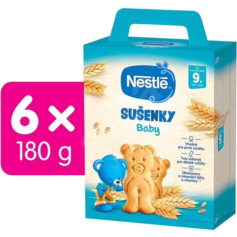 NESTLÉ Baby Sušenky 6× 180 g - Sušenky pro děti